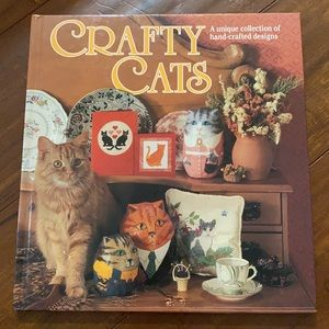 Crafty Cats hard cover craft sewing book